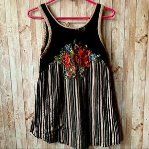 Free People Floral Lace Tank Top